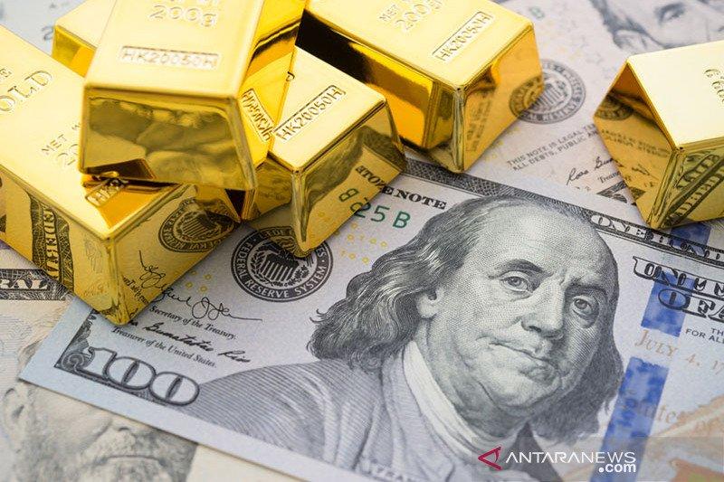 Risiko politik AS pudar, harga emas anjlok 78 dolar