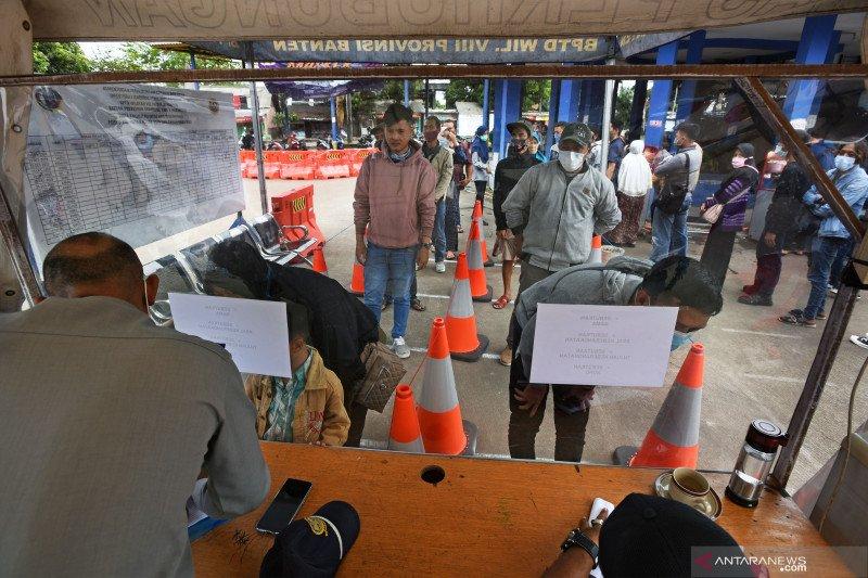 Lonjakan penumpang di Terminal Bus Pakupatan, Serang
