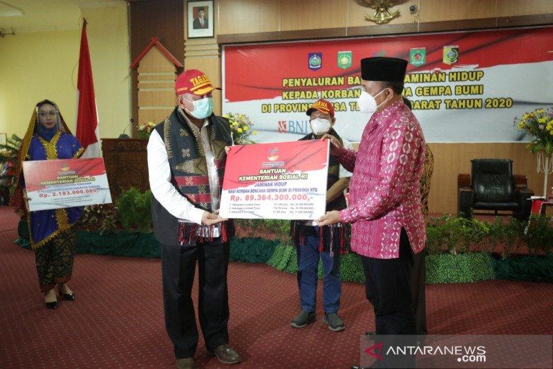 Jadup Rp89,4 miliar untuk 297 ribu jiwa korban gempa NTB cair