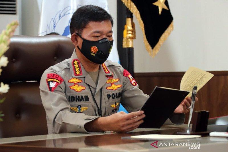 Kapolri anugerahi kenaikan pangkat luar biasa anggota tangkap teroris