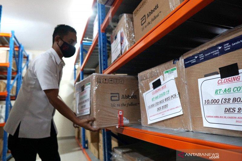 BNPB kirim bantuan 10 ribu alat tes cepat antigen COVID-19 ke Gorontalo
