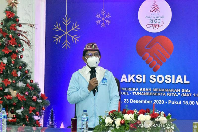 Kominfo awali Natal dengan aksi sosial