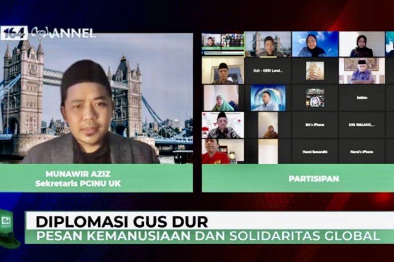 NU UK-KBRI London gelar diskusi virtual tentang diplomasi Gus Dur