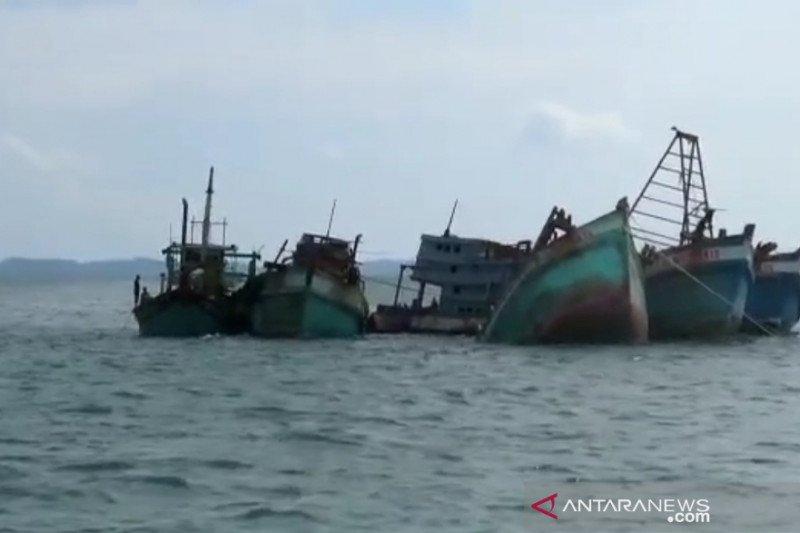Lima kapal nelayan asing ditenggelamkan di perairan Kepri