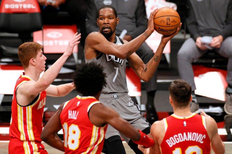 Kevin Durant dikabarkan absen bela Nets karena jalani karantina