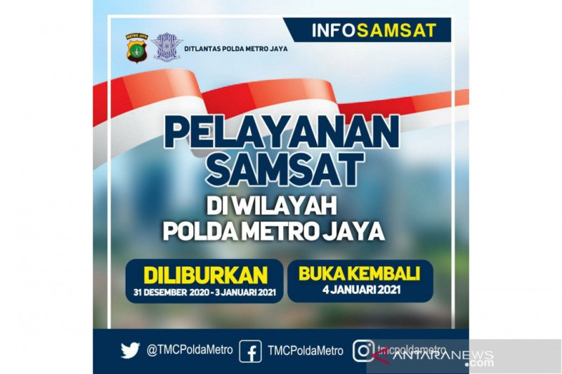 Polda Metro Jaya tutup layanan Samsat Keliling hingga 3 Januari 2021