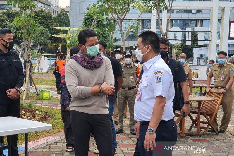 Menteri Sandi temui Wagub DKI di Thamrin 10 bahas pariwisata kreatif
