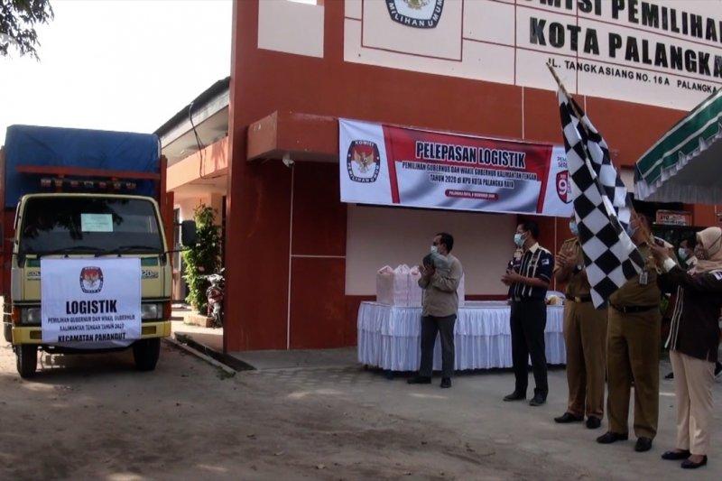 KPU Kota Palangka Raya distribusikan logistik Pilkada ke 622 TPS