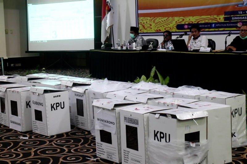 KPU tunda penetapan hasil rekapitulasi suara Pilkada Surabaya
