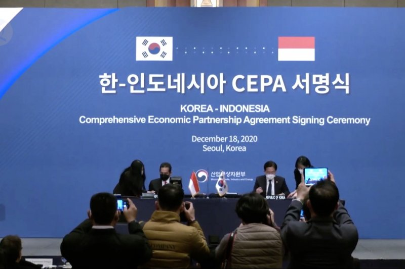 Mendag RI tandatangani IK-CEPA, perkuat kerja sama dengan Korsel