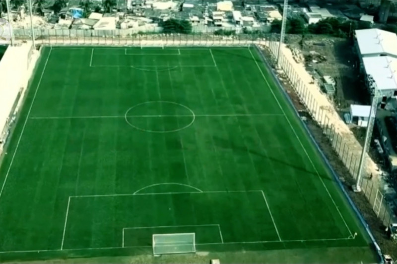 Anies resmikan lapangan latih Jakarta International Stadium