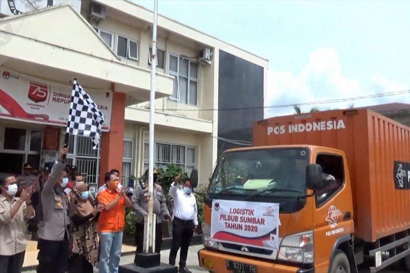 KPU Padang mulai distribusikan logistik Pilgub Sumbar
