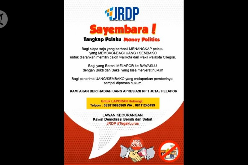 JRDP adakan sayembara tangkap pelaku politik uang