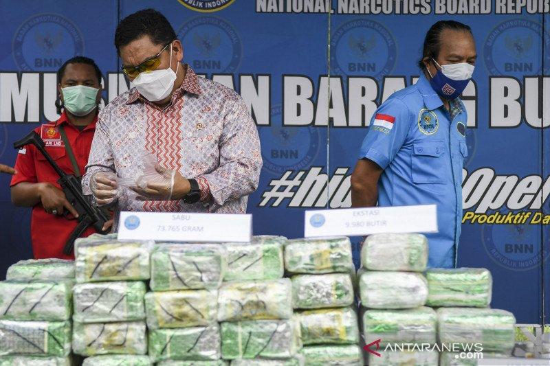 BNN amankan barang bukti narkoba
