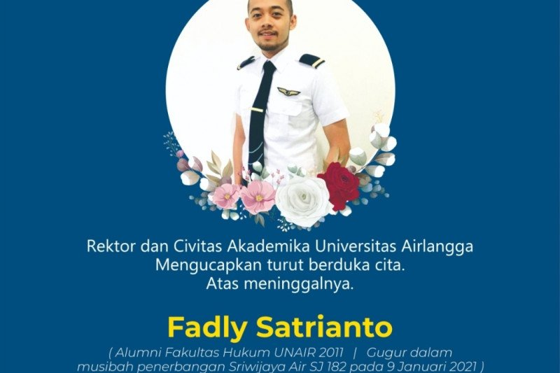 Alumnus jadi korban Sriwijaya Air SJ-182, Rektor Unair sampaikan duka
