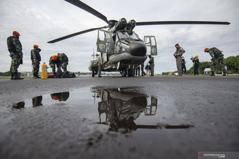TNI AU siapkan dua helikopter evakuasi korban pesawat Sriwijaya