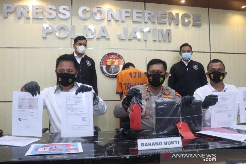 Polda Jatim tangkap pemalsu surat tes cepat antigen