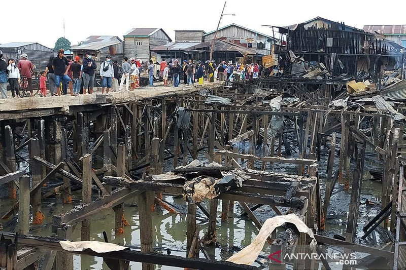 60 keluarga kehilangan tempat tinggal akibat kebakaran di Nunukan