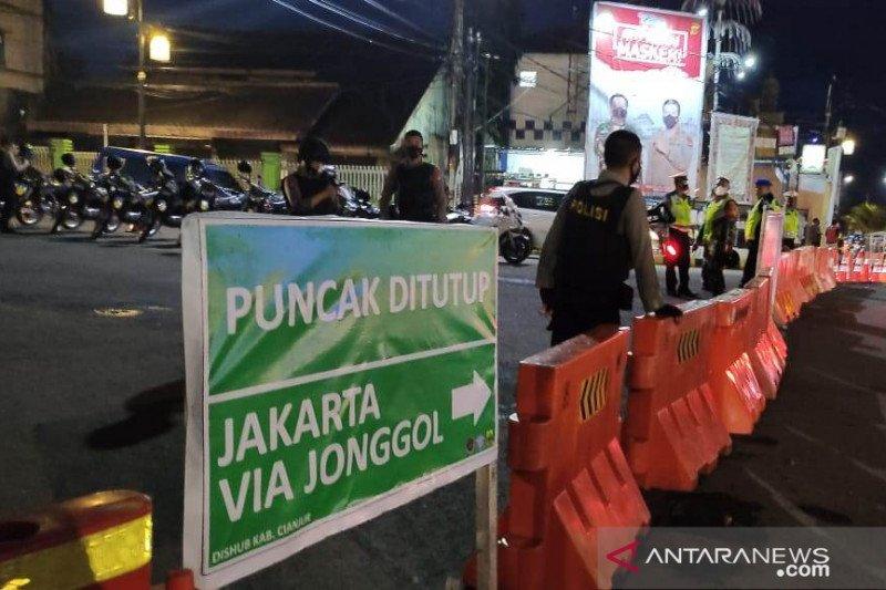Jalur Tugu Lampu Gentur-By Pass Cianjur menuju Puncak Bogor ditutup