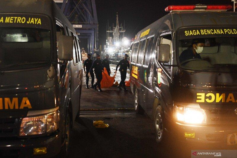 Hingga pencarian dihentikan, RS Polri terima 325 kantong jenazah