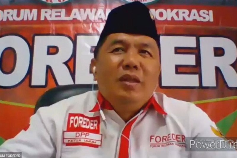 Foreder, relawan Jokowi mengapresiasi keputusan calon tunggal Kapolri