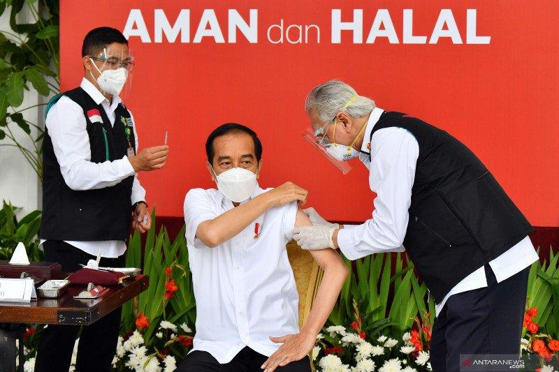 Jokowi: Vaksinasi sebagai ikhtiar agar Indonesia bebas pandemi