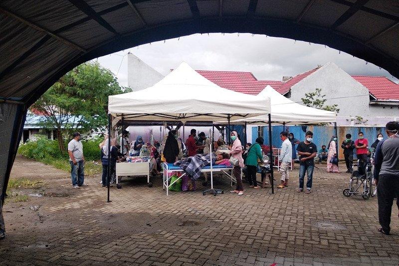 Pascagempa, BPBD Mamuju dirikan tenda darurat di RS Mitra Manakarra