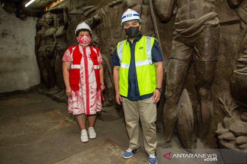 Tinjau renovasi, Erick Thohir ingin relief Gedung Sarinah direstorasi