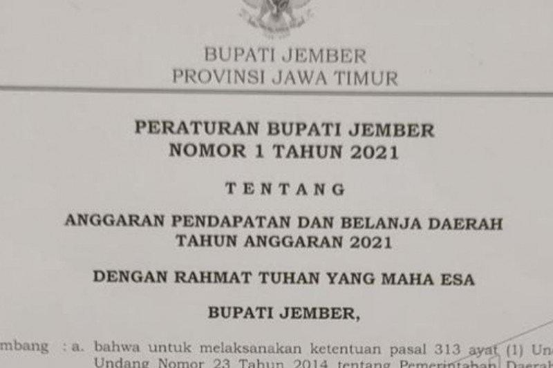 Jember miliki Perbup APBD 2021 tanpa persetujuan Gubernur Jatim