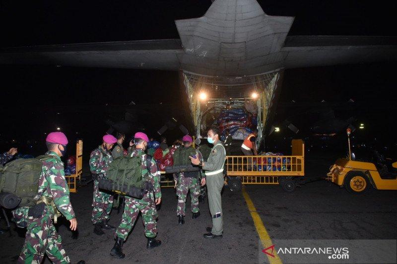 Pesawat TNI AU angkut bantuan logistik untuk korban banjir di Kalsel