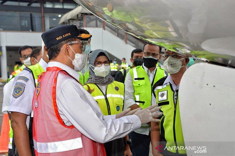 Menhub tinjau pemeriksaan kelaikan pesawat di Soekarno-Hatta