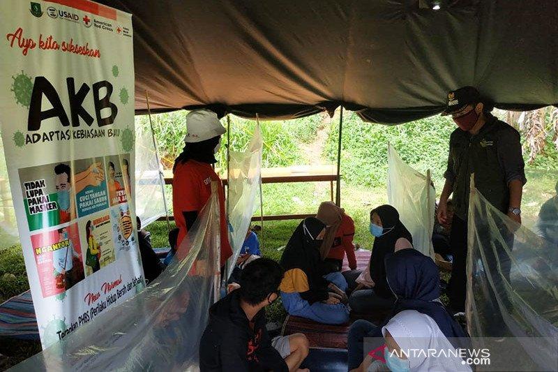 PMI Sukabumi gelar simulasi penanganan gempa sesuai protokol kesehatan
