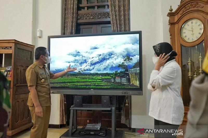 Mensos pantau dampak erupsi Gunung Semeru di Lumajang
