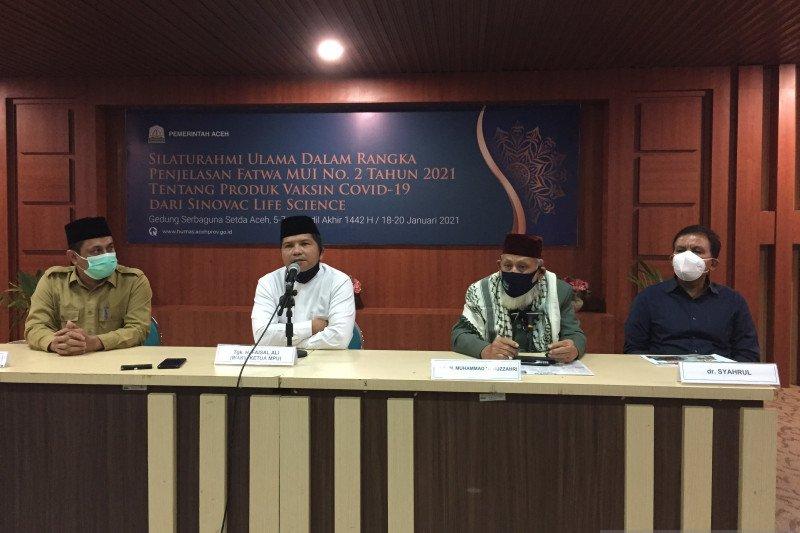 MPU se Aceh sepakat vaksinasi Sinovac suci dan halal