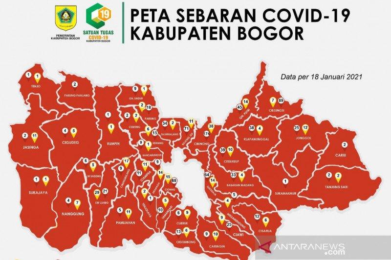 Seluruh wilayah di Kabupaten Bogor berstatus zona merah COVID-19