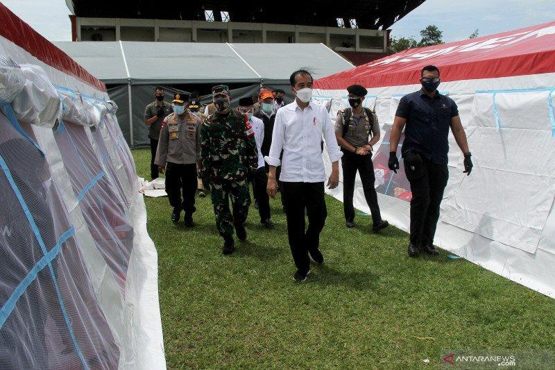 Presiden tinjau lokasi pengungsian gempa Sulbar