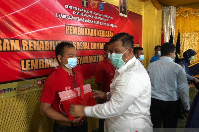 Lapas Padang gulirkan rehabilitasi medis-sosial untuk 100 warga binaan