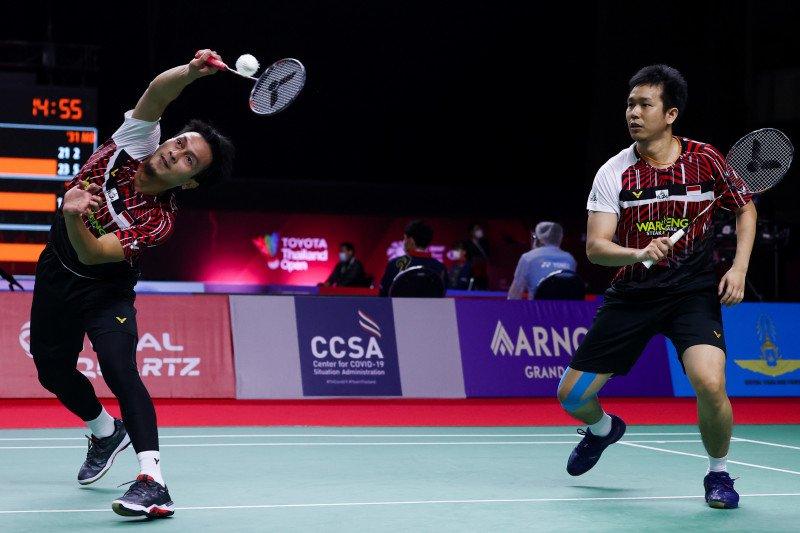 Ahsan/Hendra mantap melangkah ke perempat final Thailand Open II