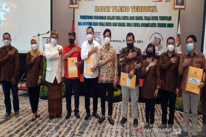 KPU tetapkan Gibran-Teguh paslon terpilih Pilkada Surakarta