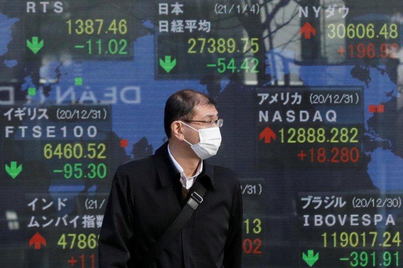 Pasar saham Asia berhati-hati jelang laporan inflasi AS, Bitcoin jatuh