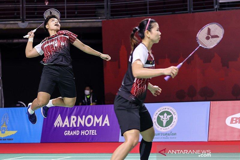 Greysia/Apriyani dijegal unggulan ketiga di semifinal Thailand Open II