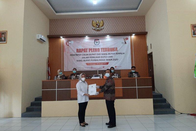 KPU Purbalingga tetapkan Dyah-Sudono sebagai kepala daerah terpilih