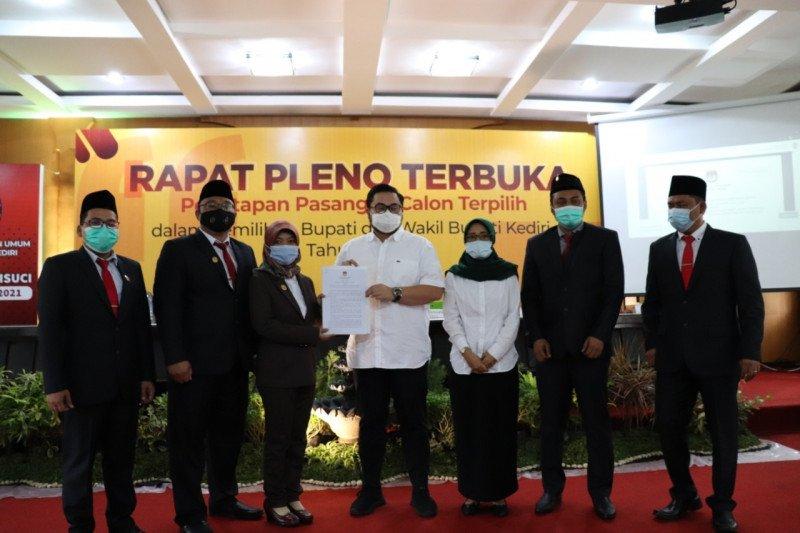 KPU Kabupaten Kediri tetapkan paslon kepala daerah terpilih