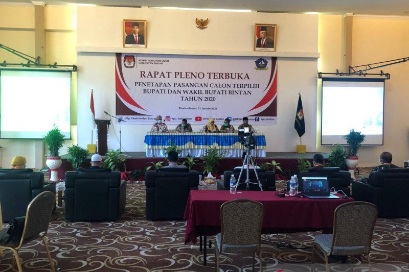 KPU Kabupaten Bintan tetapkan Apri-Roby paslon kepala daerah terpilih