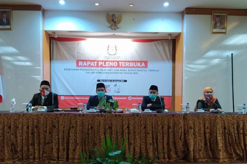KPU tetapkan Halim-Joko sebagai calon terpilih Pilkada Bantul