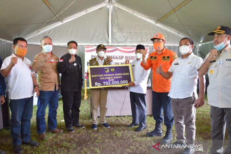 Gubernur Sulbar terima bantuan senilai Rp702 juta dari Sulteng