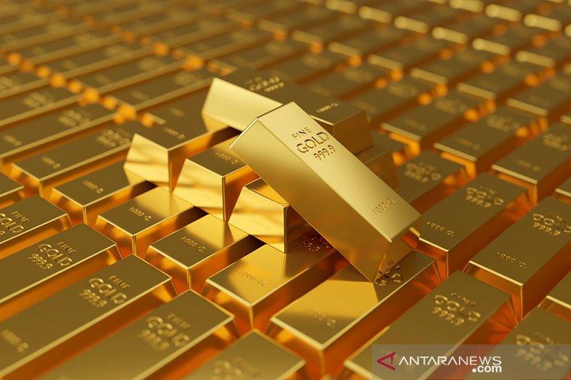 Emas turun karena ambil untung, harapan stimulus batasi kerugian