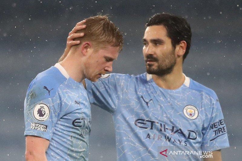 Manchester City terancam tanpa De Bruyne hingga enam pekan