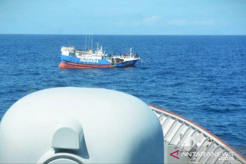 TNI AL tangkap kapal Taiwan di Laut Natuna Utara