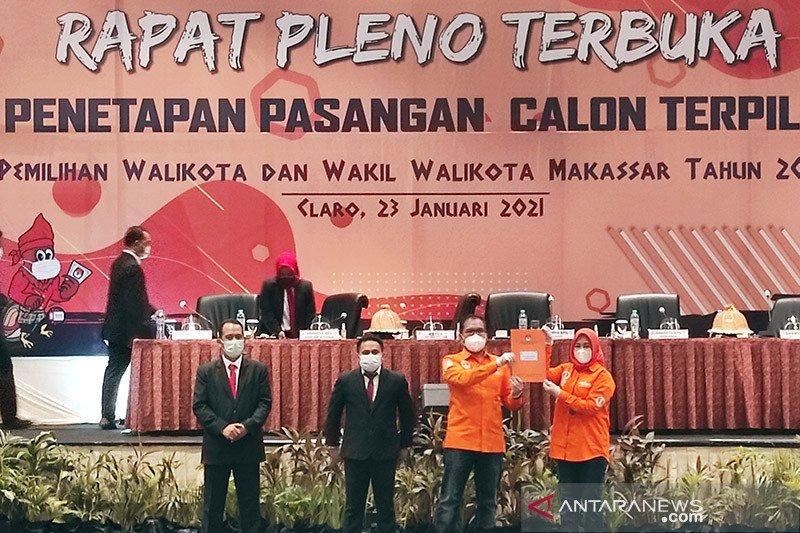 KPU Makassar tetapkan Danny-Fatma kepala daerah terpilih